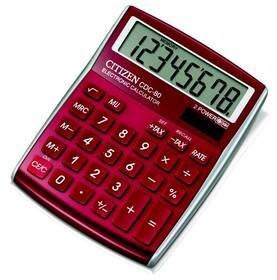 Kalkulačka Citizen CDC-80RD (CDC-80RD) červená