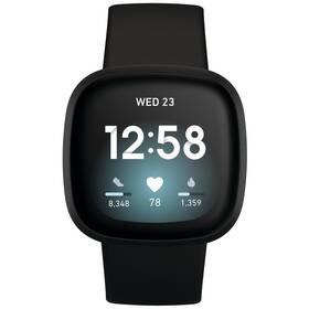 Chytré hodinky Fitbit Versa 3 - ZÁNOVNÍ - 12 měsíců záruka - Black/Black Aluminum