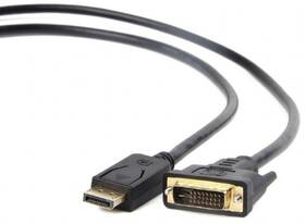 Kabel Gembird Displayport / DVI-D, 1,8m (CC-DPM-DVIM-6) černý