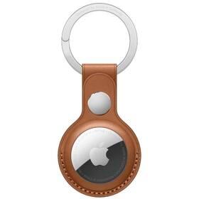 Apple AirTag kožená klíčenka - sedlově hnědá