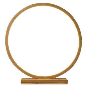 LED dekorace EMOS kruh bambusový, 32 cm, vnitřní, teplá bílá (DCAW10)