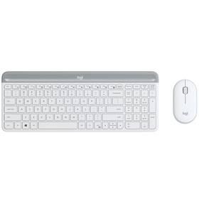 Klávesnice s myší Logitech Wireless Combo Slim MK470 US (920-009205) bílá