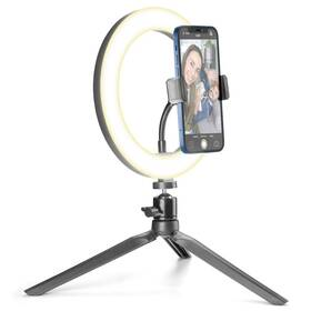Světlo CellularLine Selfie Ring s LED osvětlením pro selfie fotky a videa (SELFIERINGK) černé