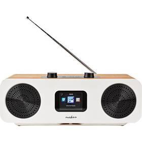 Internetový radiopřijímač Nedis RDIN2500WT bílý/dřevo