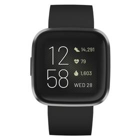 Chytré hodinky Fitbit Versa 2 (NFC) - ZÁNOVNÍ - 12 měsíců záruka - Black/Carbon