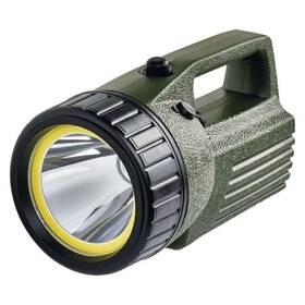 Svítilna EMOS 10W COB LED + LED, 380 lm, aku 4000 mAh (1433010070) černá/zelená