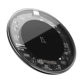 Bezdrátová nabíječka Baseus Simple 15W (WXJK-BA02) černá/průhledná
