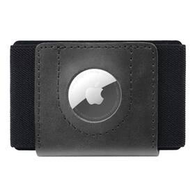 Peněženka FIXED Tiny Wallet pro AirTag z pravé hovězí kůže (FIXWAT-STN2-BK) černá