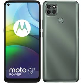 Mobilní telefon Motorola Moto G9 Power - ZÁNOVNÍ - 12 měsíců záruka - Metallic Sage