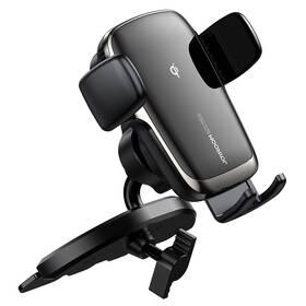 Držák na mobil Joyroom JR-ZS248 do CD, bezdrátové nabíjení černý