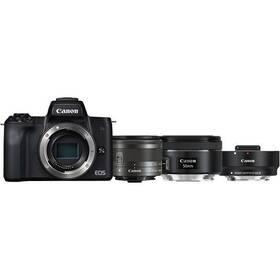 Digitální fotoaparát Canon EOS M50 + M 15-45 IS STM + obj. 50/1.8 + ADAPTER (2680C061) černý