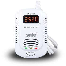 Detektor plynů Safe 808L hlásič zemního plynu (SAFE 808L)
