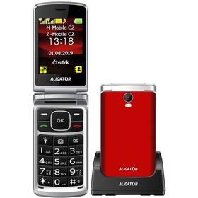 Mobilní telefon Aligator V710 Senior Dual SIM (AV710RS) červený