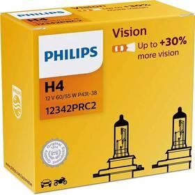 Autožárovka Philips Vision H4, 2 ks (12342PRC2)