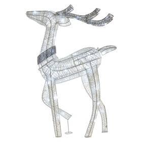 LED dekorace EMOS 80 LED vánoční 3D sob, 76 cm, vnitřní, studená bílá, časovač (DCFC07)
