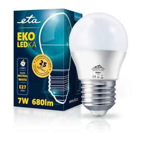 Žárovka LED ETA EKO LEDka mini globe 7W, E27, neutrální bílá (G45W7NW)