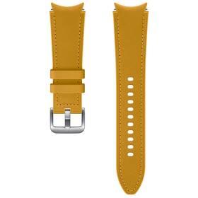 Řemínek Samsung Galaxy Watch4 Classic 46mm, hybridní kožený (20 mm, M/L) (ET-SHR89LYEGEU) hnědý