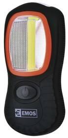 Svítilna EMOS LED 3W COB LED + 3x LED,  3x AAA (1440283100) černá