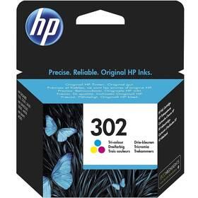 Inkoustová náplň HP 302, 165 stran, CMY (F6U65AE)
