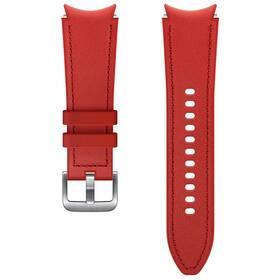 Řemínek Samsung Galaxy Watch4 Classic 42mm, hybridní kožený (20 mm, S/M) (ET-SHR88SREGEU) červený