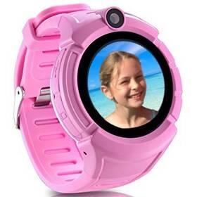 Chytré hodinky Carneo GuardKid+ GPS dětské (8588006962529) růžové
