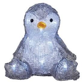 LED dekorace EMOS 20 LED vánoční tučňák, 20 cm, 3x AA, vnitřní, studená bílá, časovač (DCFC09)