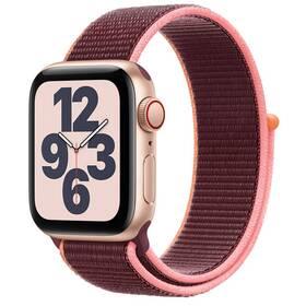 Chytré hodinky Apple Watch SE GPS + Cellular, 40mm pouzdro ze zlatého hliníku - švestkový provlékací sportovní řemínek (MYEJ2HC/A)