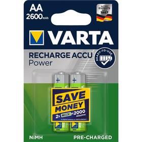 Baterie nabíjecí Varta Rechargeable Accu AA, HR06, 2600mAh, Ni-MH, blistr 2ks (5716101402)