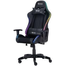Herní židle Sandberg COMMANDER RGB (640-94) černá
