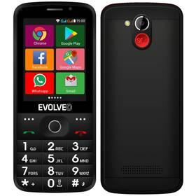Mobilní telefon Evolveo EasyPhone AD - ZÁNOVNÍ - 12 měsíců záruka černý