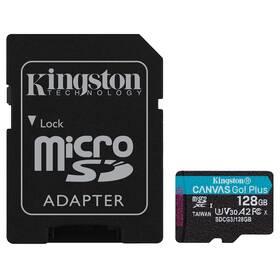 Paměťová karta Kingston Canvas Go! Plus MicroSDXC 128GB UHS-I U3 (170R/90W) + adaptér (SDCG3/128GB)