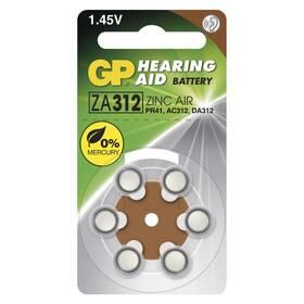 Baterie do naslouchadel GP ZA312, blistr 6ks (B3512)