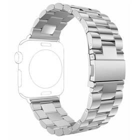 Řemínek WG na Apple Watch, kovový pletený + adapter 38/40/41 mm (9147) stříbrný