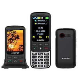 Mobilní telefon Aligator VS 900 Senior Dual SIM (AVS900BS) černý/stříbrný