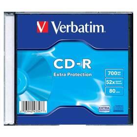 Disk Verbatim Extra Protection CD-R DL 700MB/80min, 52x, slim, 1ks (43347)