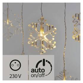 Vánoční osvětlení EMOS 8 LED vánoční závěs, vločky, 80cm, venkovní, teplá bílá, časovač (1534226500)