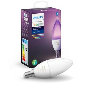 Chytrá žárovka Philips Hue Bluetooth, 6W, E14, White and Color Ambiance (8719514356610)