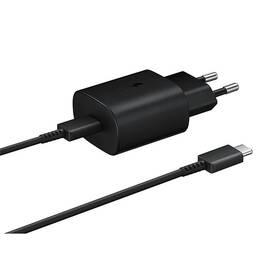 Nabíječka do sítě Samsung EP-TA800, rychlonabíjení, USB-C, 25W, kabel 1m (EP-TA800XBEGWW) černá