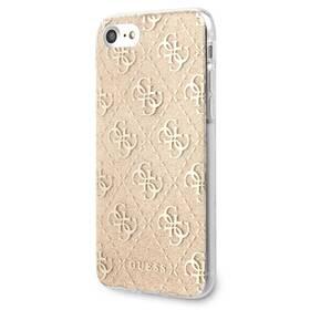 Kryt na mobil Guess Glitter 4G Solid na Apple iPhone 8/SE (2020) (GUHCI8PCU4GLGO) zlatý