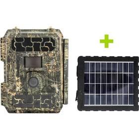 Fotopast OXE Panther 4G + solární panel zelená/hnědá