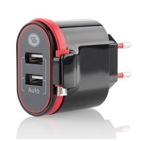 Nabíječka do sítě GoGEN ACH202C, 2xUSB, 2,4A, integrovaný Micro USB kabel (ACH202C)