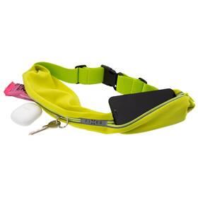 Pouzdro na mobil sportovní FIXED Sportbelt Duo se dvěmi kapsami (FIXSB-DU-LM) zelené