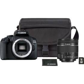 Digitální fotoaparát Canon EOS 2000D + 18-55 mm DC + VUK (2728C054) černý