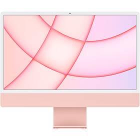 "Počítač All In One Apple iMac 24"" M1 8x GPU, 8GB, 512GB, CZ - Pink (MGPN3CZ/A)"