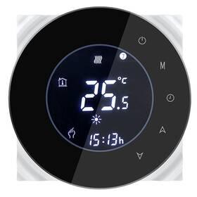 Termostat iQtech SmartLife GALW-B, WiFi termostat pro kotle s potenciálovým spínáním (IQTGALW-B) černý