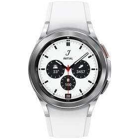 Chytré hodinky Samsung Galaxy Watch4 Classic 42mm (SM-R880NZSAEUE) stříbrné