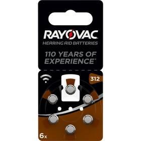 Baterie do naslouchadel Varta Rayovac 312, blistr 6ks (4607945416)