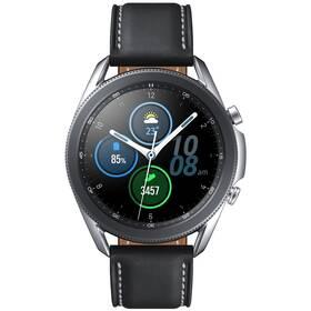 Chytré hodinky Samsung Galaxy Watch3 45mm - ZÁNOVNÍ - 12 měsíců záruka stříbrné