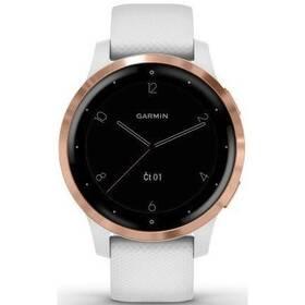 GPS hodinky Garmin vívoactive4S RoseGold/White (010-02172-23)