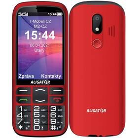 Mobilní telefon Aligator A830 Senior + stojánek (A830R) červený